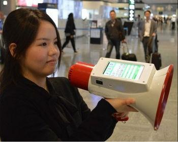 Изобретение уникального мегафона-переводчика