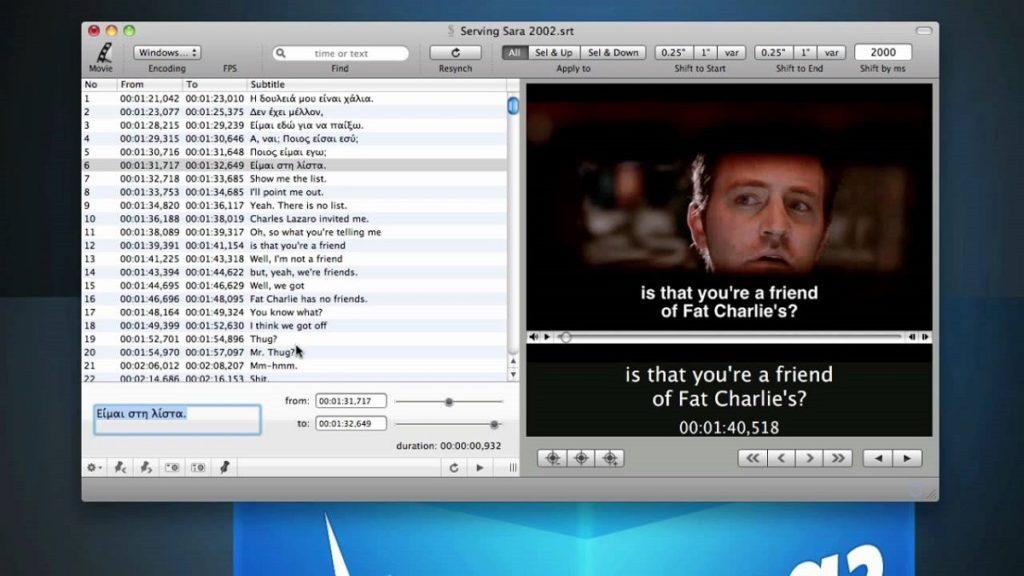 субтитры на экране компьютера